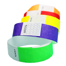 "100ct, 500ct or 1000ct-3/4"" Tyvek Wristbands-Choose Your Color-Clubs,Events,Bars"
