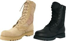 "Desert Tan Military Tactical 8"" Sierra Lug Sole Boots"