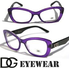New DG Womens Cat Eye Fashion Designer Eye-glasses Clear Lens Frame Sexy Black