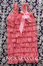 Lace Petti  Pettiskirt Romper  with straps 23 DIFFERENT COLORS