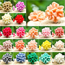 ! 15X15MM Cabochons DIY RESIN VINTAGE FLOWER FLAT BACK Fit Pendants TOP ITEMS !