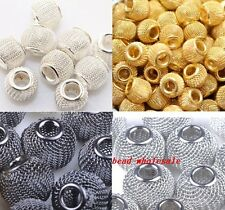 20pcs Silver/Golden/Black Mesh Spacer Beads DIY Basketball Wives Earrings 12mm