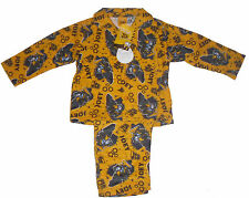 BOYS PYJAMAS JCB DIGGER FLANNEL 12 MONTHS UPTO  4 YEARS OLD LONG