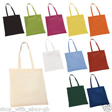 5 X COTTON SHOPPING SHOULDER TOTE BAGS - FOR SCHOOL CRAFT HOBBIES PROMOTIONS ECO