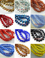 4x6mm 50~200pc Glass Crystal Loose Beads Spacer Findings Color Faceted New-4