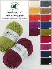 GRUNDL PERFINO ARAN KNITTING YARN WITH WOOL 50G - CO-ORINATE FOR GRUNDL FLOWER