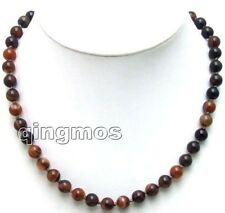 """Charming! Small 6-18mm Multi-color Round dream agate beads 17"""" necklace -nec5649"""