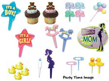 Baby Shower Cupcake Pics & Cake Decorations & Candles U Pick