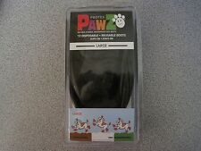 PawZ Rubber Dog Boots NEW BLACK 12 Pack Waterproof  Tiny - X-Large