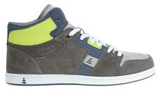 Praxis Freestyle Skate Shoes Grey Suede/Lime Mens