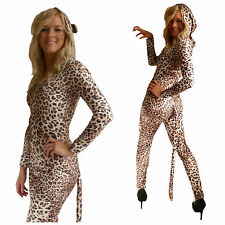 Leopard Animal Print Cat Suit Fancy Dress (Made in the UK) all in one