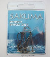 Sakuma 540 Manta Sea Fishing Hooks - All Popular Sizes Available
