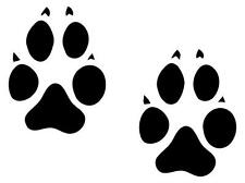 (6 Sets) Wolf Animal Tracks....Vinyl  Wall Art Decal Sticker Home Decor