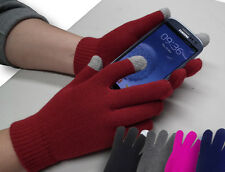 Touch Screen Magic Stretch Gloves w/ Conductive Tips All Sizes 5 Colors Mittens