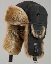Faux Fur Denim Trapper Hat