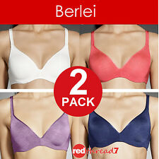 Authentic Berlei 2 Pack Barely There Contour Support Underwire Bras FREE Postage