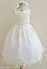 # 2 RT NEW IVORY  FLOWER GIRL PARTY BRIDESMAID PAGEANT DRESS 2 4 6 8 10 12