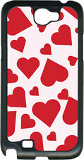 Valentine's Pink and Red Heart Collage Samsung Galaxy Note II 2 Hard Case Cover
