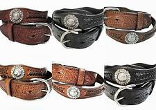 "Western Genuine Leather Berry Concho Cowboy Belt Wholesale 1.5"" 4176 51-55"
