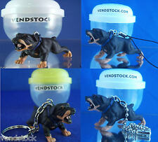 ROTTWEILER BLACK #16 HOOD HOUNDS DOG FIGURE DANGLER KEYCHAIN LIGHT LAMP FAN PULL