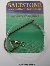 Hooks to Heavy Nylon Trace, Conger & Tope Trace, O'Shaughnessy 6/0, 8/0, 10/0
