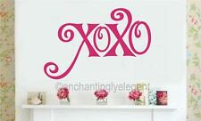 XOXO (Hugs & Kisses) Valentines Day Vinyl Decal Wall Sticker Words Lettering