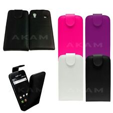 Leather Top Magnetic Flip Sleeve Case Cover Pouch For Samsung Galaxy Ace S5830