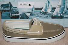 SPERRY TOP-SIDER BAHAMA CHINO/OYSTER CANVAS BOAT SHOES (S643)