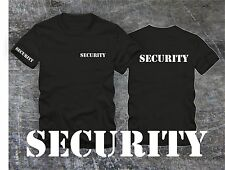 SECURITY T-Shirt  !! Bekleidung Security  T-Shirt  Security ! Ärmeldruck Stencil