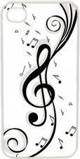 Black and White Treble Clef Design on iPhone 4 4s Case Cover