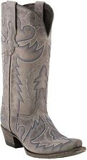 Lucchese M5720 Womens Western Cowboy Boots Taupe Aspen Calf Skin Leather