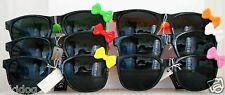 Hello Kitty Sunglasses Black Frame Matching Bows and Arms Dark Black Lenses