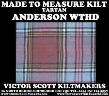 ANDERSON WEATHERED TARTAN KILT 100%WOOL KILT MADE TO MEASURE MADE IN SCOTLAND