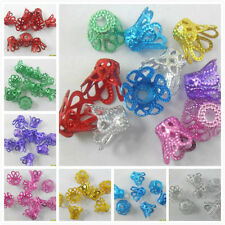 200pcs Aluminum Bead Caps Jewelry Findings Charms 6.5x8mm Hole:2mm
