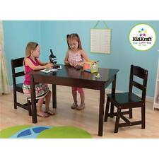 KidKraft Kids Children's Rectangle Wooden Play Table and 2 Chair Set Student NEW