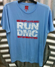 RUN DMC OFFICIAL MEN'S BLUE COTTON SHORT SLEEVE T-SHIRT NEW WITH TAG ($29.95rrp)