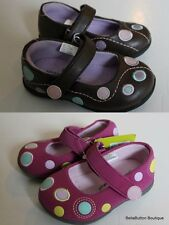 JUMPING BEANS NWT Mary Jane Shoes Pink Brown Polka Dots CHOICE Girl 4 6 7 8 9