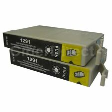2 Generic Replacements for Epson T1291 Printer Ink Cartridges. UK VAT Invoice.