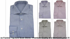 Mens Shirt PURE COTTON Cutaway Spread Collar