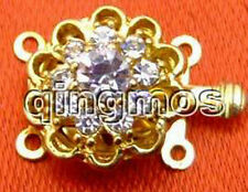 SALE one Big 15mm Gold Plated Round Flower 1 and 2 strings Clasp-gp92 Free ship