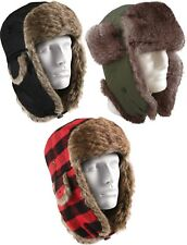Warm Winter Bomber Hat Aviator Fur Flyers Trapper Cap with Ear Flaps