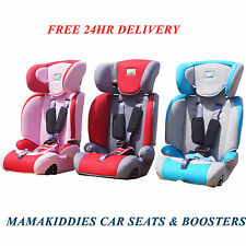 Baby Child Car Seat & Booster Chair Back Recliner Harness 9 months to 12 years