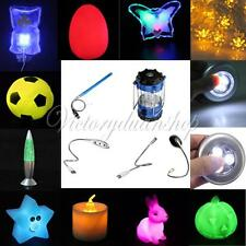 Multi-color LED Table Porch Night Camp Lamp USB Flexible Light Decoration Gift