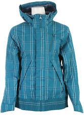 Foursquare Rotary Ski Snowboard Jacket Bluebook Plotter Plaid Womens