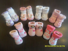 BABY GIRLS ANKLE SOCKS WHITE PINK PURPLE BUTTERFLY FLOWER TEDDY BUNNY GIFT NEW