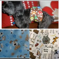 Sir Crazy Cookie's Male dog diaper / belly band / WIDE VELCR/ BUY 2 GET 1 FREE