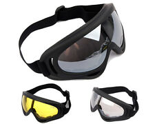 3 Colo Airsoft UV400 Wind Dust kite surfing jet ski Tactical Goggle Glasses BK A