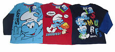 BOYS LONG SLEEVED TOP T-SHIRT SMURFS 3-10 YEARS OLD