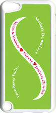 Green & White Mother's Love with Four Pink Names on iPod Touch 5th Gen 5G Case