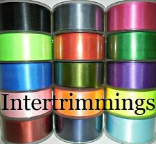 DOUBLE SIDED SATIN RIBBON, 38MM, 5 METRES, ASSORTED COLOURS, FREE P&P